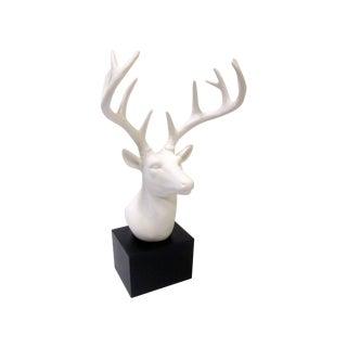 Faux White Reindeer Deer Antlers Bookshelf Decor