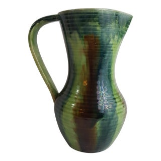 Green Belgian Art Pottery Jug