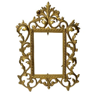 Antique Ornate Metal Picture Frame
