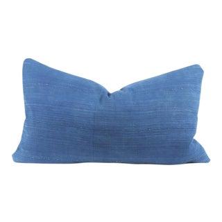 African Royal Blue Mud Cloth Lumbar Pillow Cover