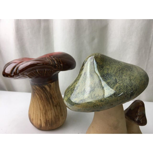Image of Vintage Ceramic Mushrooms - A Pair
