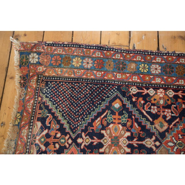 """Antique Distressed Afshar Square Rug - 4'4"""" X 5'7"""" - Image 6 of 9"""