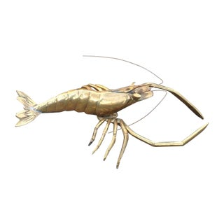 Mid-Century Brass Lobster