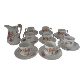 Antique French Limoges Cocoa/Demitasse - Service for 8