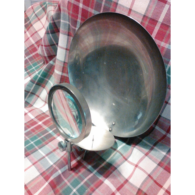 Vintage Candle Wick Sconce with Magnifying Glass - Image 7 of 8