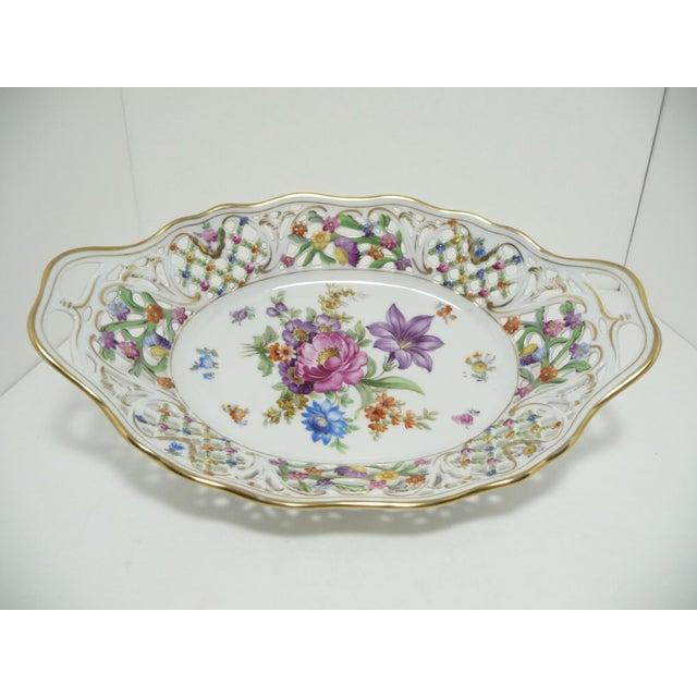 Vintage Porcelain Schumann Dresden Flowers Dish - Image 2 of 8