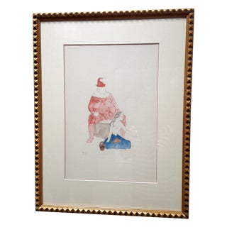 Pablo Picasso Harlequin and Boy Lithograph