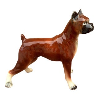 1950s Vintage Boxer Dog Figurine