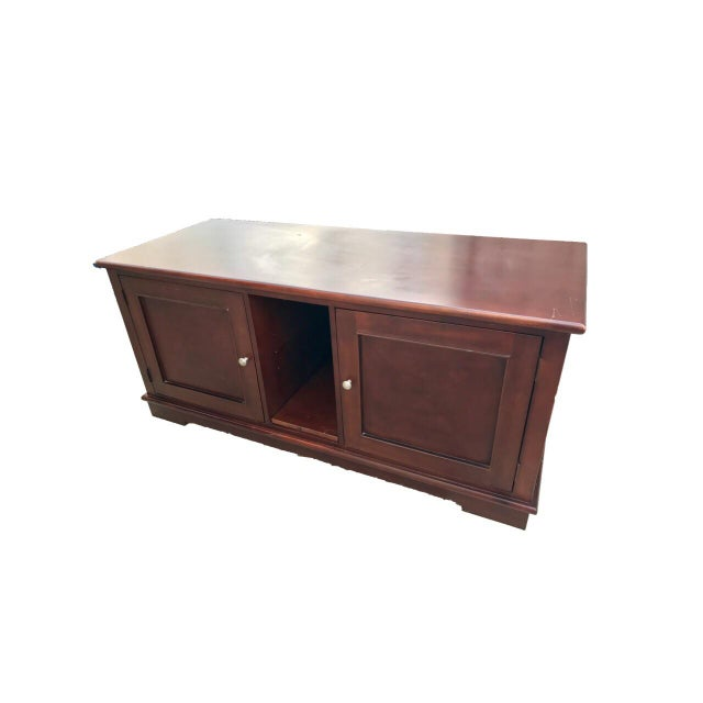 Solid Mahogany Contemporary Entertainment Console - Image 3 of 10