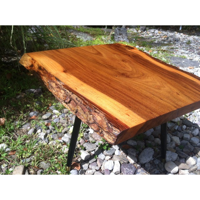 Image of English Elm Live Edge Cocktail Table
