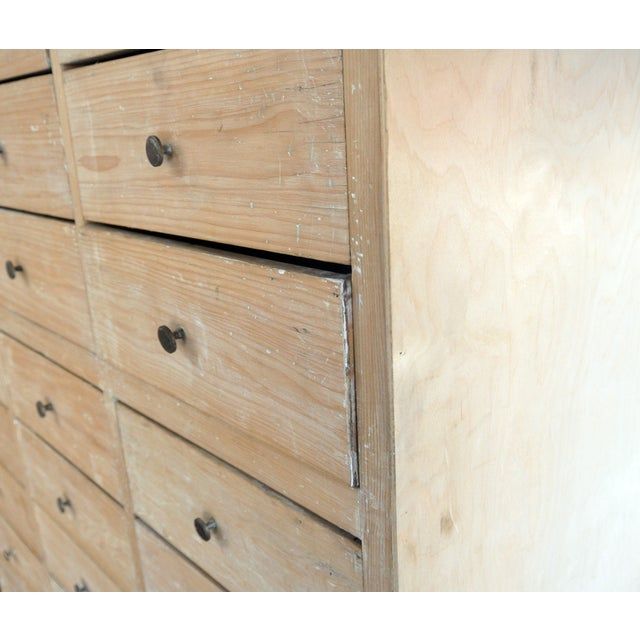 Tall Blonde Wood Cabinet - Image 4 of 6