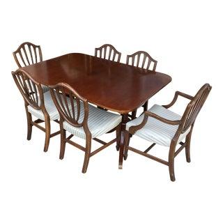 Mahogany Dining Table & Six Armando's Dining Chairs