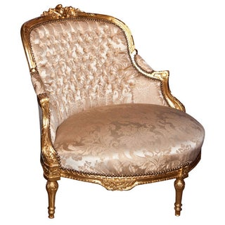 French Louis XVI Style Corner Chair