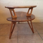 Image of Custom 2-Tier Pearsall Style End Tables - Pair