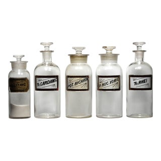 19th-C. Apothecary Bottle Collection