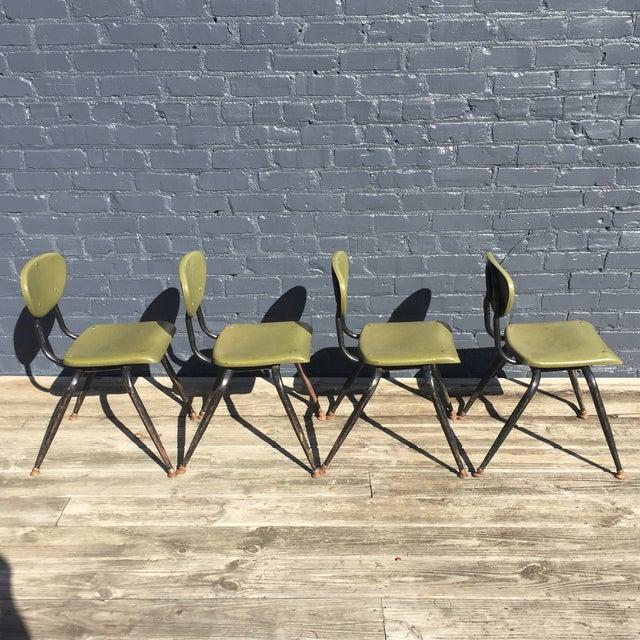 Mid-Century Metal Kids Chairs - Set of 4 - Image 3 of 5