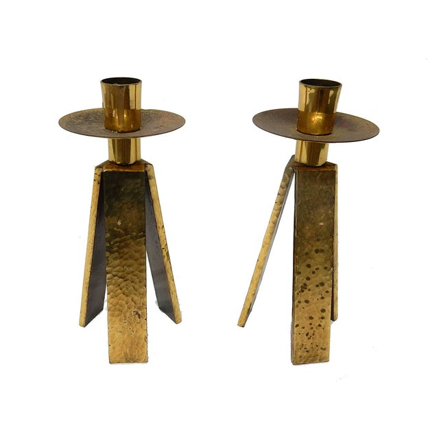 3 Legged One Light Candle Holder - Pair - Image 3 of 6