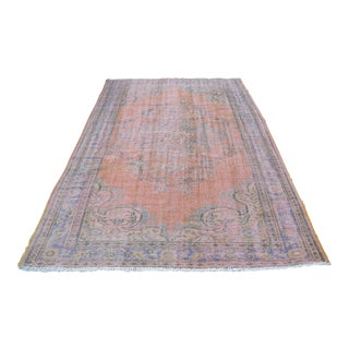 Anatolian Nomadic Faded Vintage Turkish Rug - 6′3″ × 9′8″