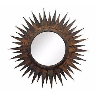 Modernist Metal Sunburst Mirror