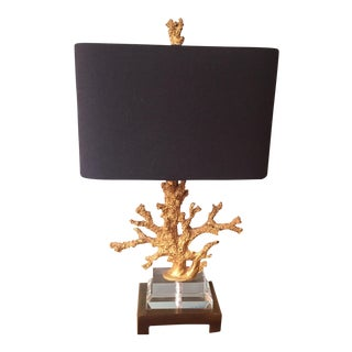 Horchow Gold Coral Table Lamp