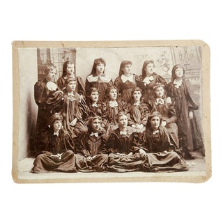 Victorian Group of Girls School Photo