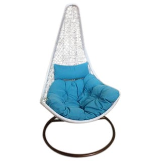 Single Tear Drop Rattan Swing Chair