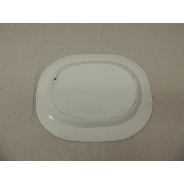 Antique Blue & White Ironstone English Platter - Image 4 of 5