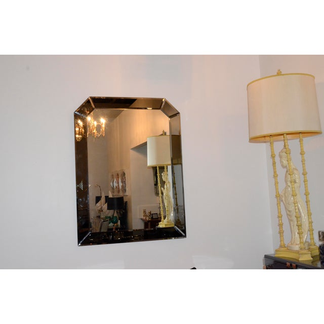 Image of Large Bevelled Geometric Hollywood Glamour Decorative Wall Hanging Mirror