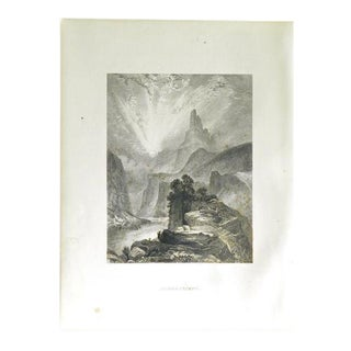"1883 Antique Print ""Azure Cliffs"""