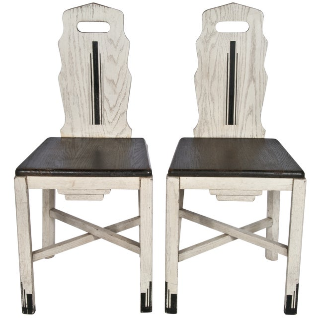 Vintage Wood Sellers Dining Chairs - A Pair - Image 1 of 3