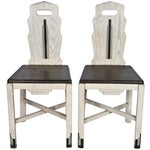 Image of Vintage Wood Sellers Dining Chairs - A Pair