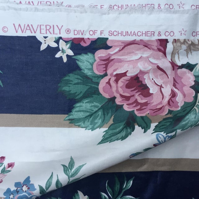Vintage Schumacher Floral Chintz Fabric - 4.66 Yards - Image 5 of 9