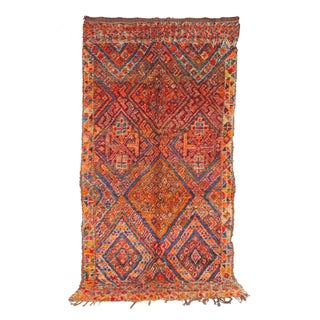 "Vintage Beni M'Guild Moroccan Berber Rug - 6'9"" X 12'4"""