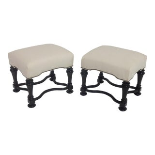 Tuscan Style Ottomans - A Pair