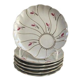 Shell-Shaped Gilt Porcelain Plates - Set of 6