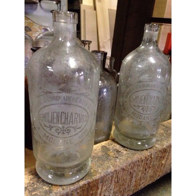 Vintage French Etched Lemonade Bottle Chairish