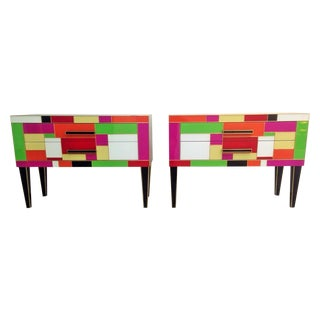 Commode in Colored Glass