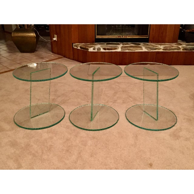 Modern Glass End Tables - Set of 3 - Image 3 of 6