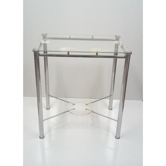 Chrome and Lucite Side Table - Image 2 of 7