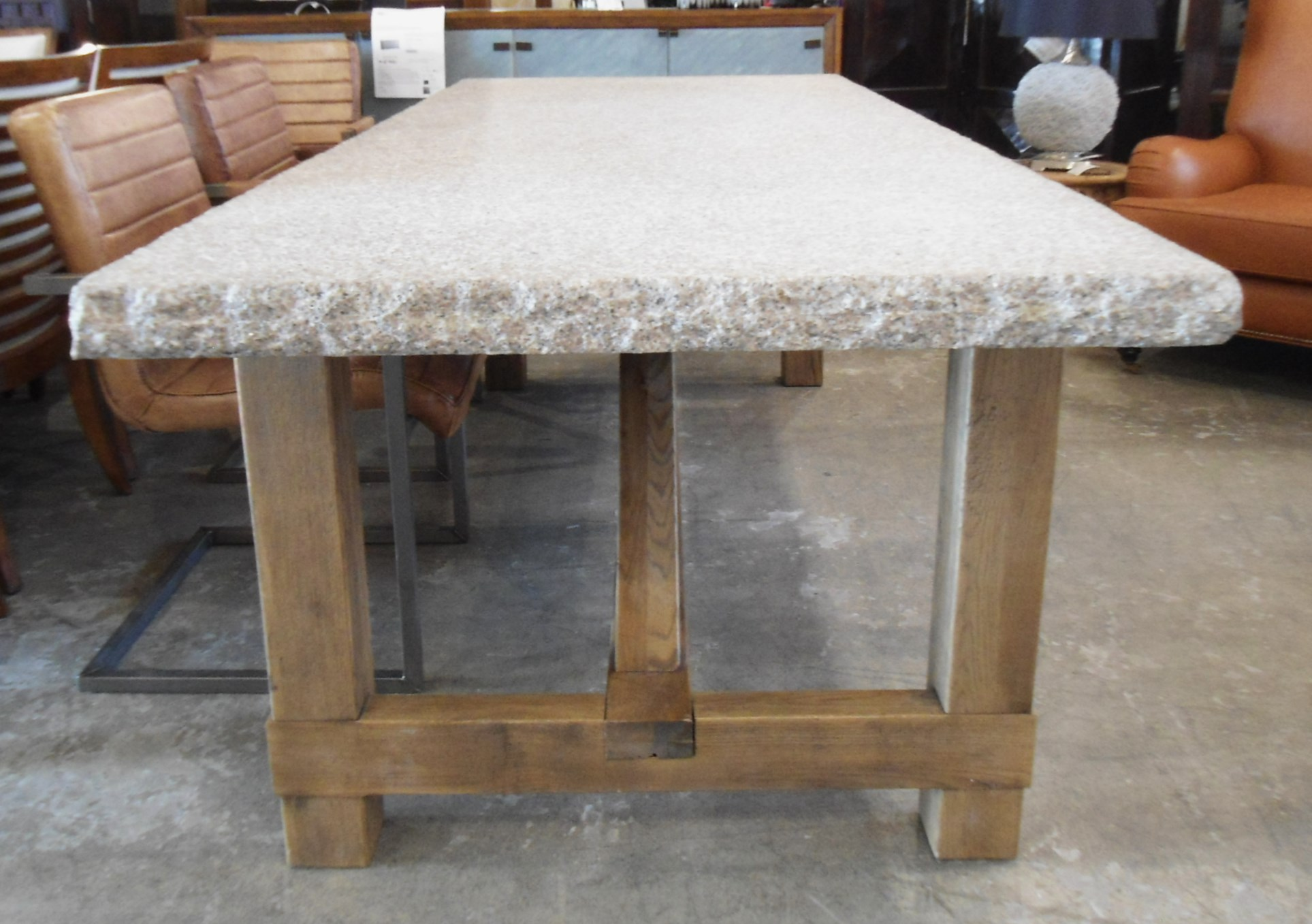 Granite Top Dining Table with Raw Wood Base Chairish : 4d4769fb e91f 4c71 8ada 6568d2d29374aspectfitampwidth640ampheight640 from www.chairish.com size 640 x 640 jpeg 47kB