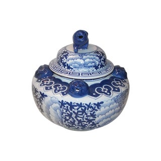 Chinoiserie Foo Dog Ginger Jar