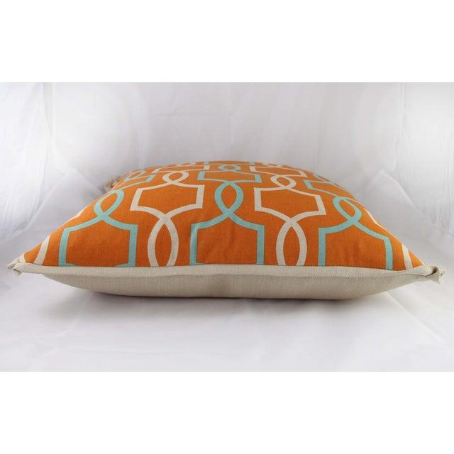 Image of Orange Casey Linen Pillow