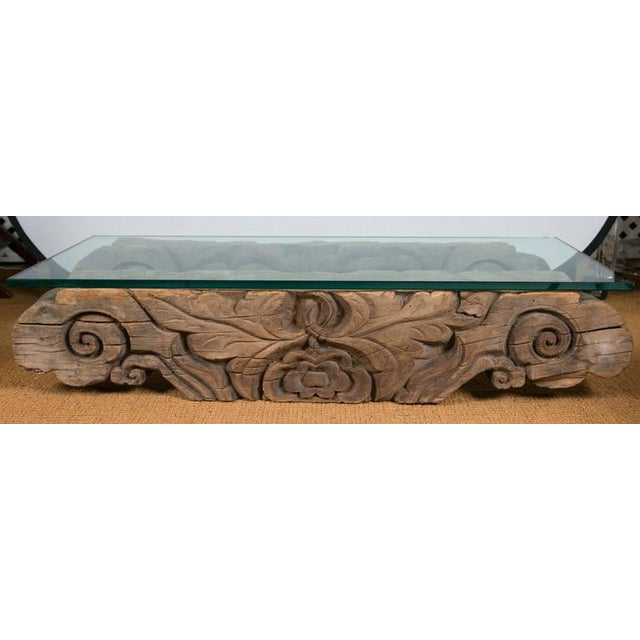 Tibetan Hand-Carved Architectural Element Table - Image 3 of 4