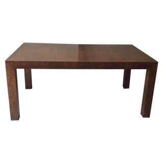 Milo Baughman Burled Wood Dining Table