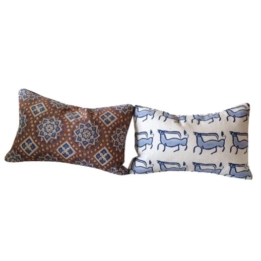 John Robshaw Lumbar Pillows - A Pair - Image 1 of 6