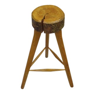 Three French Midcentury Brutalist Bar Stools