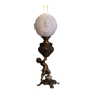 Victorian Putti Parlor Lamp