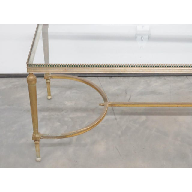 Jansen Directoire Style Glasstop Coffee Table - Image 4 of 6