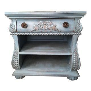 Vintage Blue Wood Accent Table