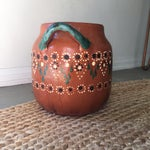 Image of 1940s Red Clay Painted Pot